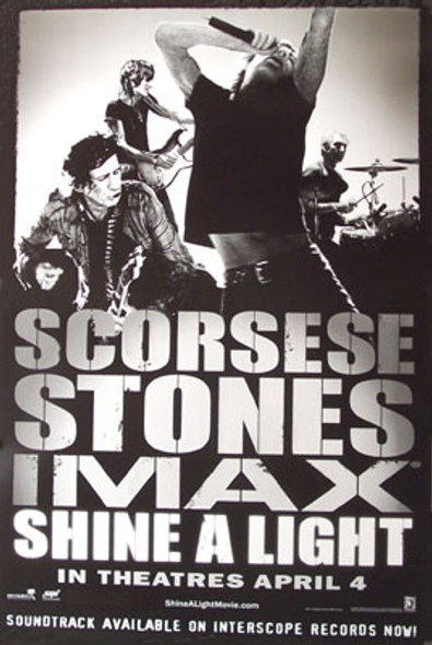 SHINE A LIGHT (Single Sided Regular Style B) ORIGINAL CINEMA POSTER