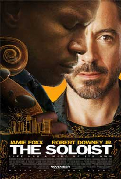 THE SOLOIST (DOUBLE SIDED) ORIGINAL CINEMA POSTER
