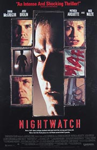 NIGHTWATCH (Video) ORIGINAL VIDEO/DVD AD POSTER