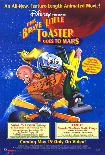 The Brave Little Toaster Goes To Mars Original Video Poster