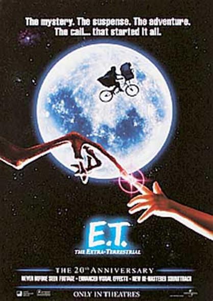 E.T. (20th Anniversary Single-sided Reprint) REPRINT POSTER