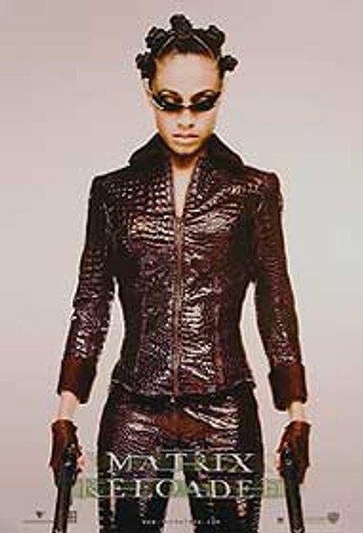 THE MATRIX RELOADED (Single Sided Advance Reprint Niobe Full Body) REPRINT POSTER