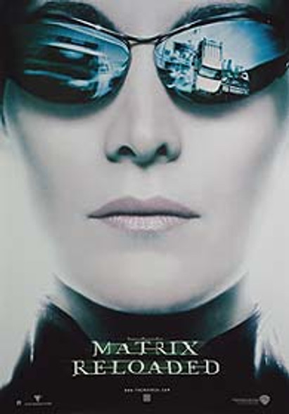 THE MATRIX RELOADED (Advance Reprint Trinity Head) REPRINT POSTER