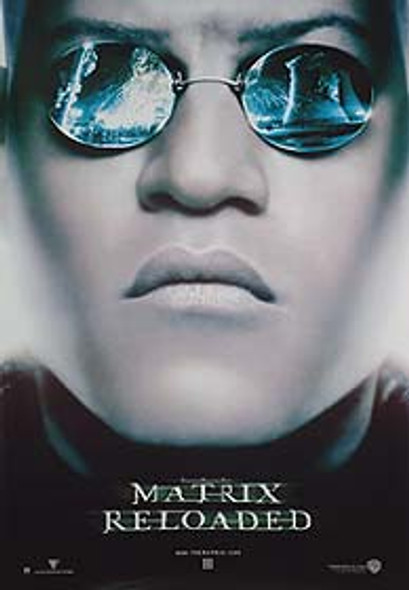 THE MATRIX RELOADED (Advance Reprint Morpheus Head) REPRINT POSTER