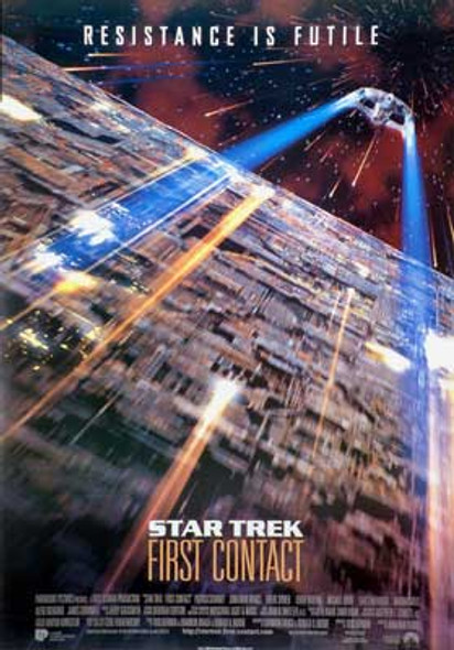 STAR TREK FIRST CONTACT (Single Sided Reprint) REPRINT POSTER