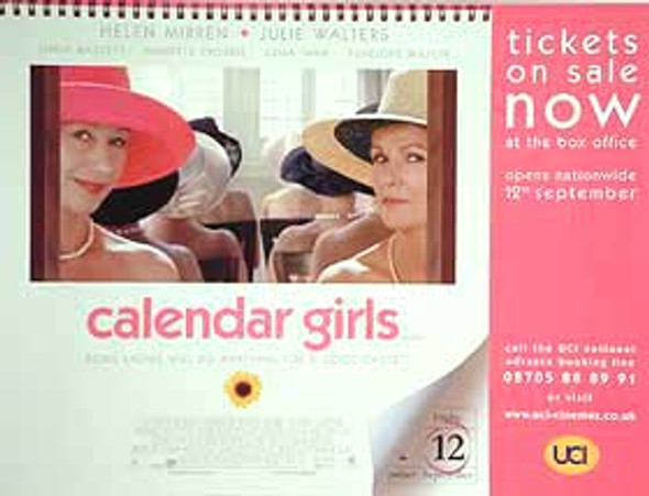 CALENDAR GIRLS ORIGINAL CINEMA POSTER