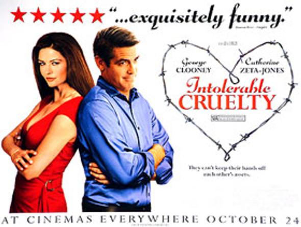 INTOLERABLE CRUELTY (Advance) ORIGINAL CINEMA POSTER
