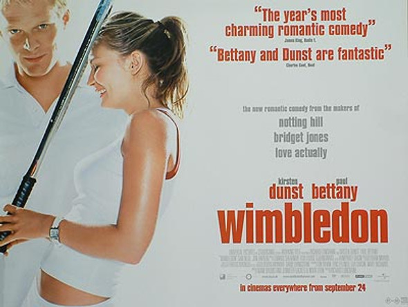 WIMBLEDON (DOUBLE SIDED Regular) ORIGINAL CINEMA POSTER