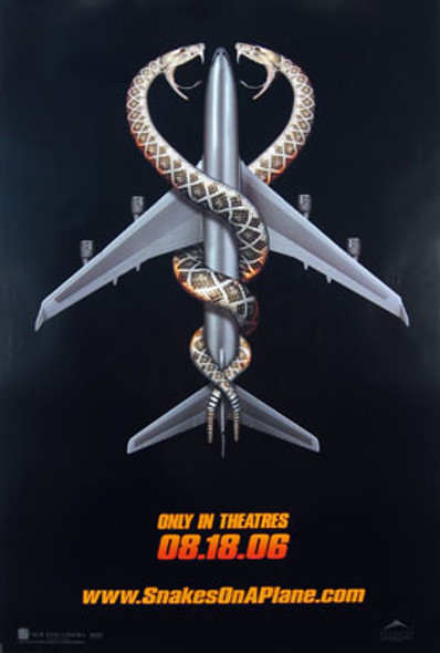 SNAKES ON A PLANE (Double Sided Advance) ORIGINAL CINEMA POSTER