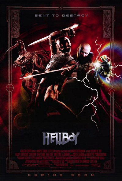 HELLBOY (Double Sided International Villians) ORIGINAL CINEMA POSTER
