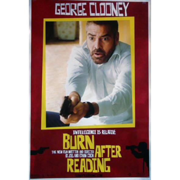 BURN AFTER READING (Single Sided) ORIGINAL CINEMA POSTER