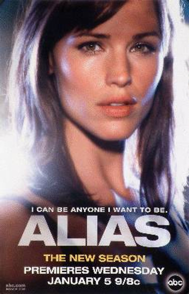 ALIAS (Single Sided Rare Wild Posting Promo) ORIGINAL TV POSTER