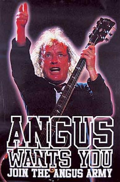 AC/DC (Angus Army) ORIGINAL MUSIC POSTER