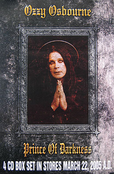 OZZY OSBOURNE (4CD Box Set Release Poster) ORIGINAL MUSIC POSTER