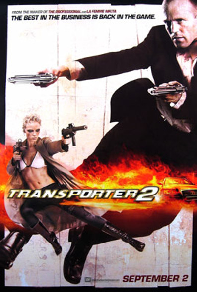 TRANSPORTER 2 (Double Sided Advance) ORIGINAL CINEMA POSTER
