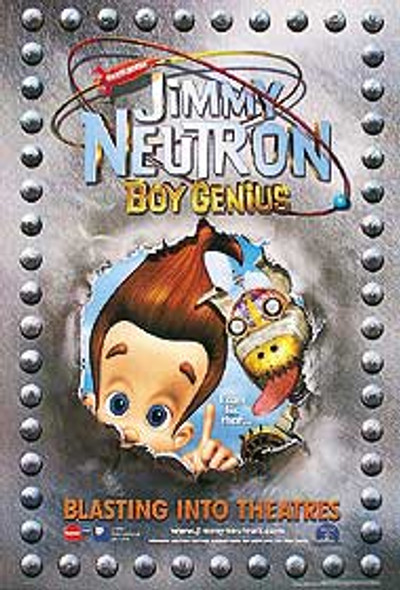 JIMMY NEUTRON BOY GENIUS! (Advance) ORIGINAL CINEMA POSTER
