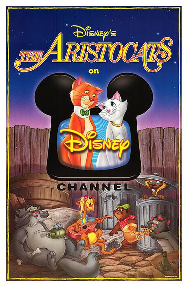 THE ARISTOCATS ORIGINAL CINEMA POSTER