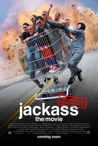 JACKASS THE MOVIE (DOUBLE Sided Regular) ORIGINAL CINEMA POSTER
