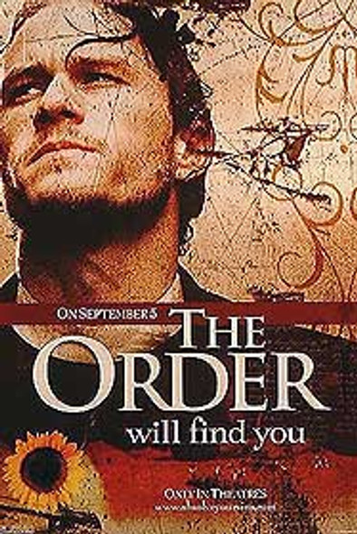 THE ORDER/THE SIN EATER (Single Sided Advance Style B) ORIGINAL CINEMA POSTER