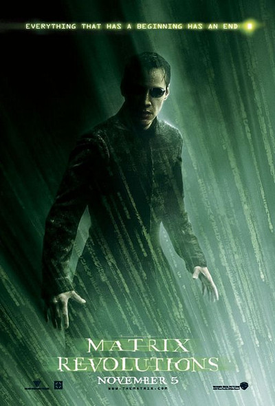 THE MATRIX REVOLUTIONS (Double Sided Style A) ORIGINAL CINEMA POSTER