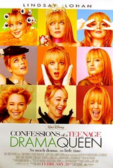 CONFESSIONS OF A TEENAGE DRAMA QUEEN (Double Sided Regular) ORIGINAL CINEMA POSTER