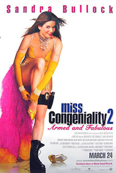 MISS CONGENIALITY 2: ARMED AND FABULOUS (Double Sided Regular) ORIGINAL CINEMA POSTER