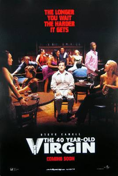 THE 40 YEAR OLD VIRGIN (Double Sided International) ORIGINAL CINEMA POSTER