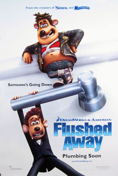 FLUSHED AWAY (Double Sided Advance) ORIGINAL CINEMA POSTER