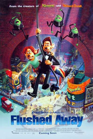 FLUSHED AWAY (Double Sided Advance Style B) ORIGINAL CINEMA POSTER