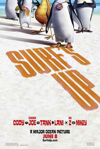 SURF'S UP (Double Sided Advance) ORIGINAL CINEMA POSTER