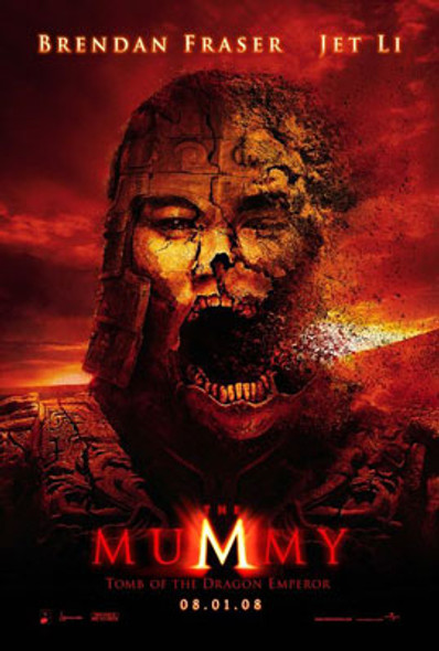 THE MUMMY: TOMB OF THE DRAGON EMPEROR (Double Sided Advance) (UV COATED / HIGH GLOSS) ORIGINAL CINEMA POSTER