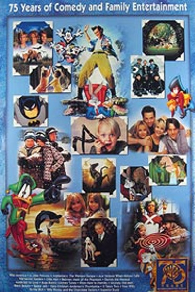 WARNER BROS 75TH ANNIVERSARY (Video) ORIGINAL VIDEO/DVD AD POSTER