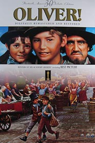 OLIVER (30th Anniversary Video) ORIGINAL VIDEO/DVD AD POSTER