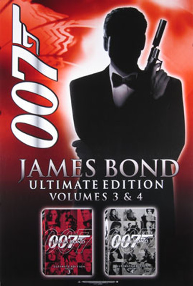 JAMES BOND ULTIMATE COLLECTION (Single Sided Video Style B) ORIGINAL VIDEO/DVD AD POSTER