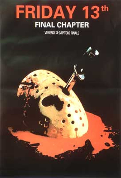 FRIDAY 13TH - THE FINAL CHAPTER (Single Sided Italian Reprint) REPRINT POSTER