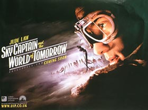 SKY CAPTAIN AND THE WORLD OF TOMORROW (Advance Jude) ORIGINAL CINEMA POSTER