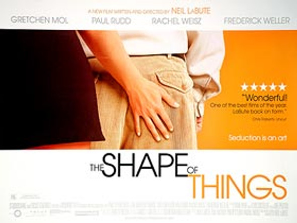 THE SHAPE OF THINGS ORIGINAL CINEMA POSTER