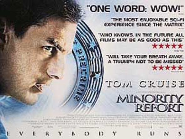 MINORITY REPORT (DOUBLE SIDED) ORIGINAL CINEMA POSTER