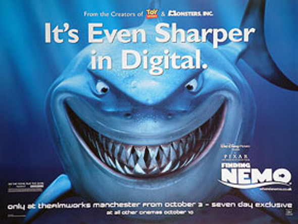 FINDING NEMO (Sharper) ORIGINAL CINEMA POSTER