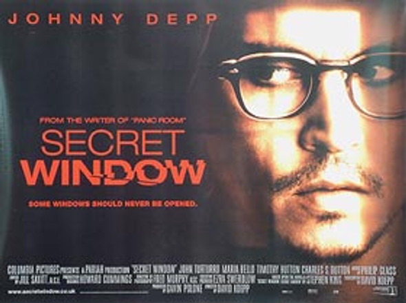 SECRET WINDOW ORIGINAL CINEMA POSTER