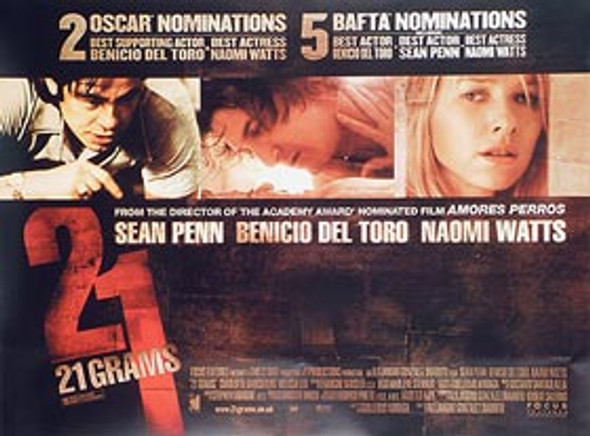 21 GRAMS ORIGINAL CINEMA POSTER