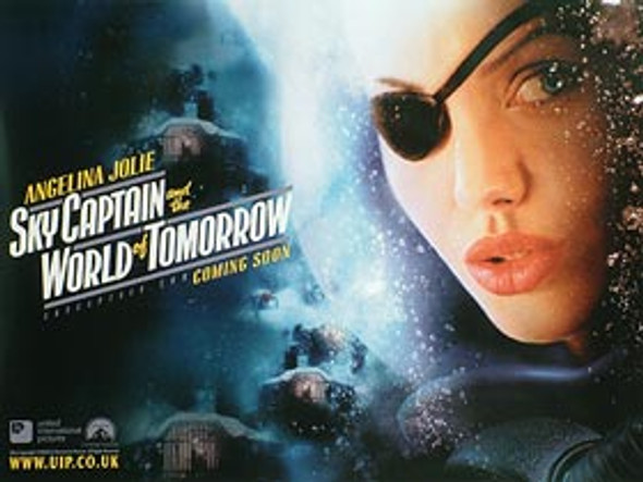 SKY CAPTAIN AND THE WORLD OF TOMORROW (Advance Angelina) (DOUBLE SIDED) ORIGINAL CINEMA POSTER