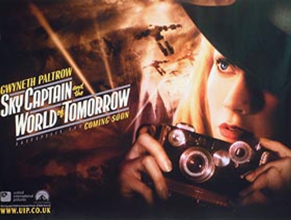 SKY CAPTAIN AND THE WORLD OF TOMORROW (Advance Gwyneth) ORIGINAL CINEMA POSTER
