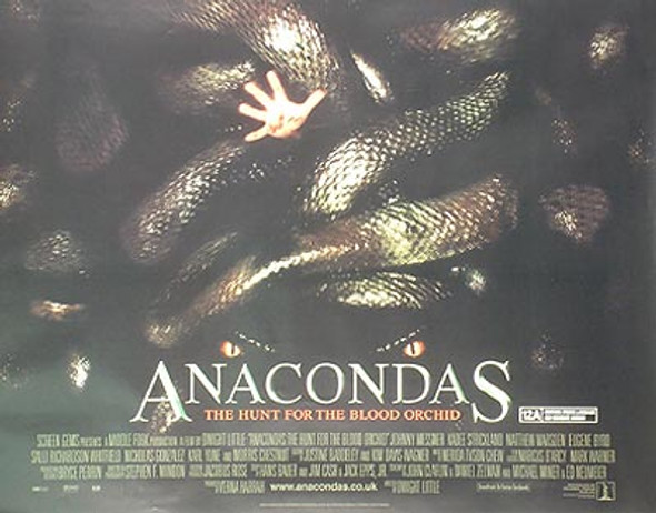 ANACONDAS (DOUBLE SIDED) ORIGINAL CINEMA POSTER