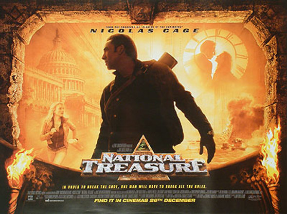 NATIONAL TREASURE (Double Sided) ORIGINAL CINEMA POSTER