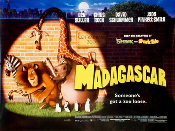 MADAGASCAR (DOUBLE SIDED) ORIGINAL CINEMA POSTER