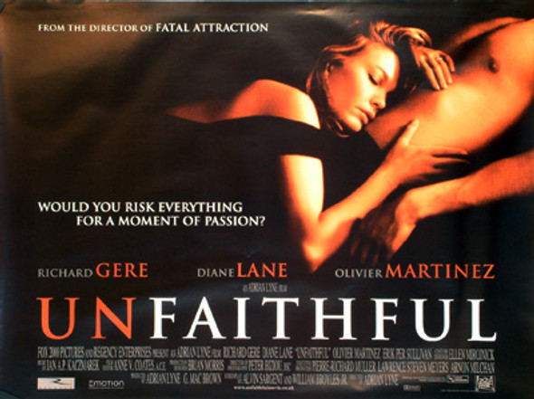UNFAITHFUL ORIGINAL CINEMA POSTER