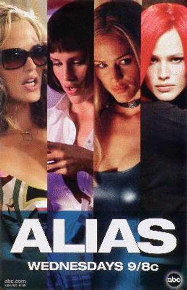 ALIAS (Rare Wild Posting Promo) ORIGINAL TV POSTER