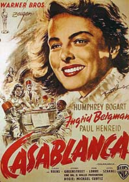 CASABLANCA (German Single Sided Reprint) REPRINT POSTER