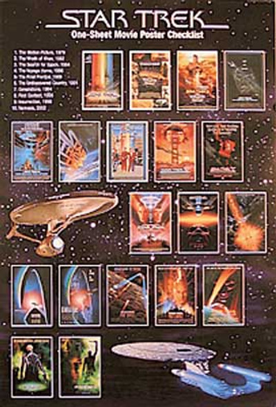 STAR TREK (Single Sided Checklist) ORIGINAL CINEMA POSTER